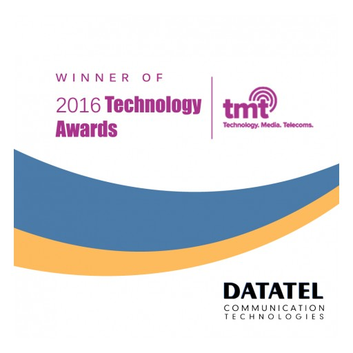 Datatel Wins the 2016 TMT News Technology Awards for Best IVR & Telephone Payment Solutions Provider - North America